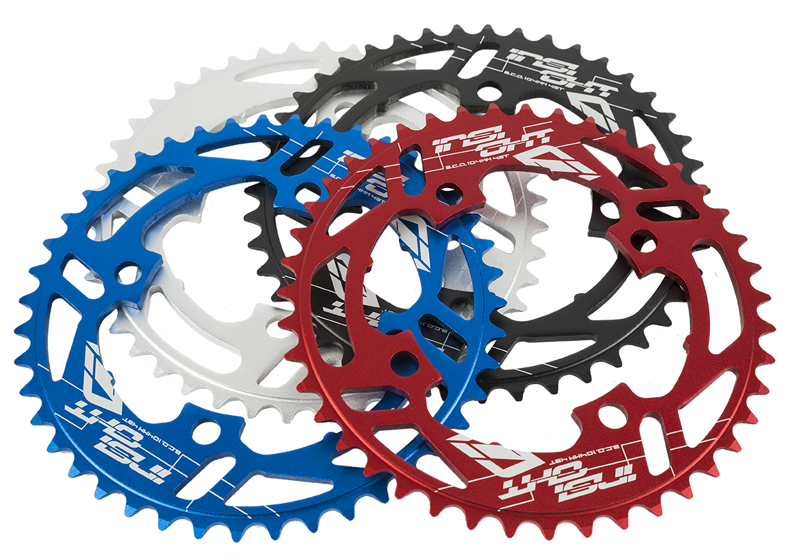 Insight 4-Bolt BMX Chainring 104mm BCD 37T Red